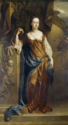 Portrait of Alice Sherard, Lady Brownlow (1659-1721) in The Saloon at Belton House