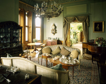 The interior of The Drawing Room at Dunster Castle