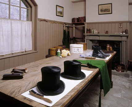 The Brushing Room, in which all woollen clothes were brushed to keep them clean