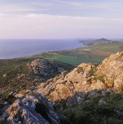 From the high point of Carn Llidi on St David's Head at St Bride's Bay
