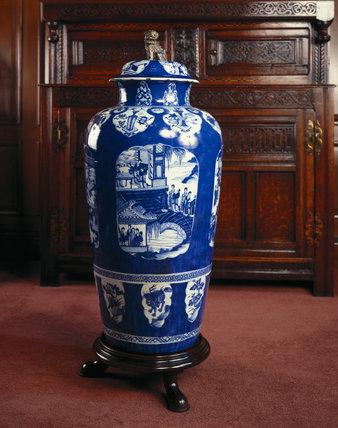 A Chinese Kandxi perios vase c. 1662-1722 at Dunham Massey
