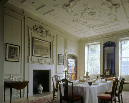 A corner of the Dining Room at Mompesson House