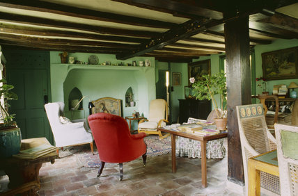 A View Of The Sitting Room At Monk S House Painted In The
