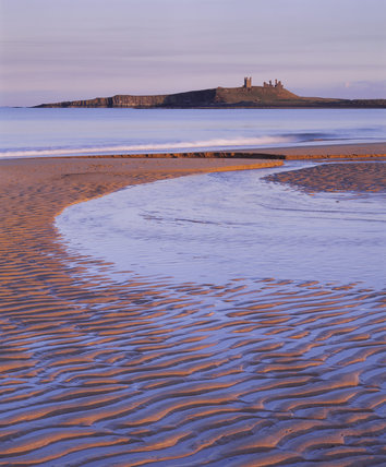 View of Dunstanburgh Castle from the north west