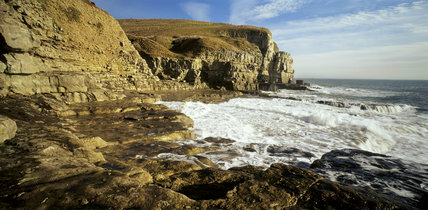 View of Seacombe Cliff in Purbeck, Dorset which is part of the Eastington Farm Estate