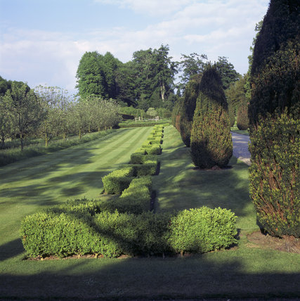 The garden at the South East side of the house looking towards the Victorian Garden