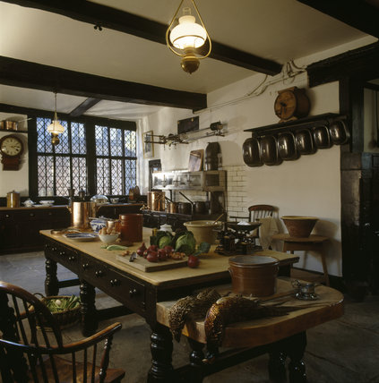 The interior of the Kitchen at Speke Hall
