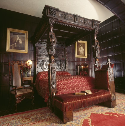 The Interior Of The Oak Bedroom Revealing The Elaborate