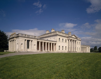 View of the front facade of Castle Coole