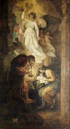 `THE NATIVITY', circa. 1792-4, by Benjamin West (1738-1820)