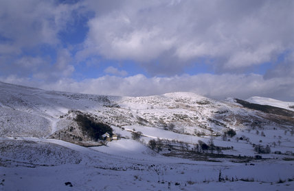 Mam Tor Farm in winter