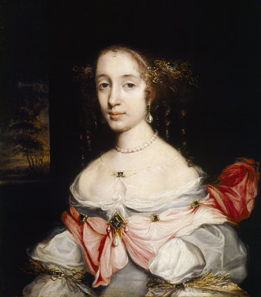 A portrait of MARGARET SPENCER, LADY ARUNDELL, WIFE OF THE 2ND LORD ARUNDELL, by J.M. Wright. Lady Arundel died in 1691.
