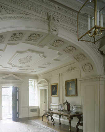 The Entrance Hall at Mompesson House from the base of the stair case