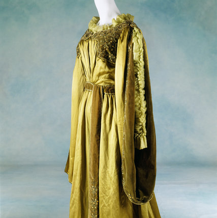 View of a Liberty tea-gown, belonging to Lady Bristol, c. 1897