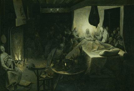 THE DEATH OF THE VIRGIN c.1564 by Pieter Brueghel the Elder c.1525/30-1569
