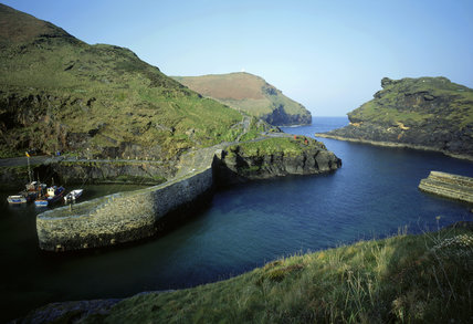 Boscastle Harbour lies at the end of a sheltered natural inlet and led to its development as a port for this remote area of Cornish coast