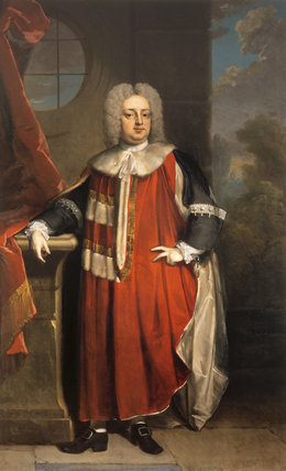 THOMAS 2nd LORD ONSLOW IN PEERS ROBES; post conservation