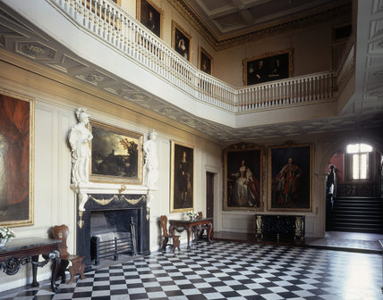 The Great Hall, with its original black and white marble floor