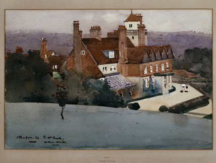 Watercolour Of Standen 1896 By Arthur Melville 1858 1904