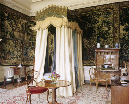 The Interior Of The Tapestry Bedchamber Dyrham At