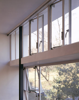 Close view of the photobolic screen, designed to maximise the light in the Dining Room of 2 Willow Road, designed by Erno Goldfinger, the Hungarian architect