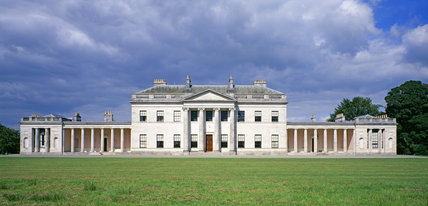 The front facade of Castle Coole