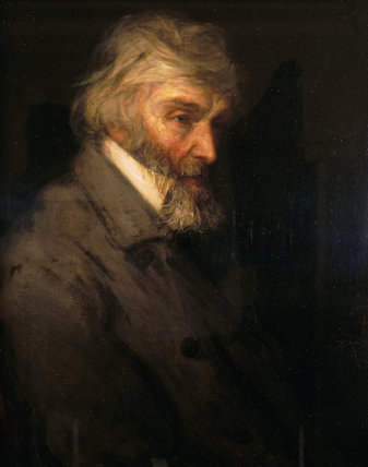 PORTRAIT OF THOMAS CARLYLE by Robert Herdman, oil on canvas