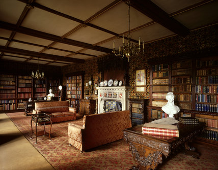 Room view of the Library at Oxburgh Hall