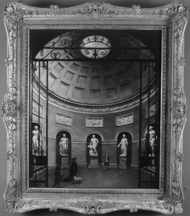 THE INTERIOR OF THE PANTHEON AT STOURHEAD by Samuel Woodforde, 1784