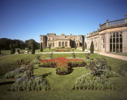 The East Front and the Orangery Terrace at Lyme Park both designed by Lewis Wyatt in the C19th