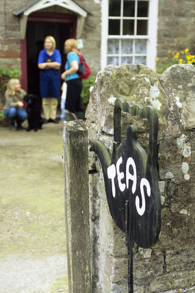 Path and Entrance to The Warren Farm Tea Rooms on the Brockhampton Estate