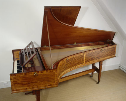 Grand piano made by John Broadwood in 1805, at Fenton House
