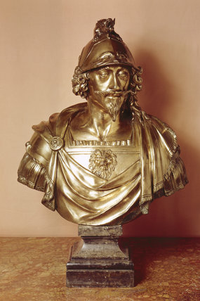Bronze bust of Charles I by Le Sueur in the Entrance Hall at Stourhead