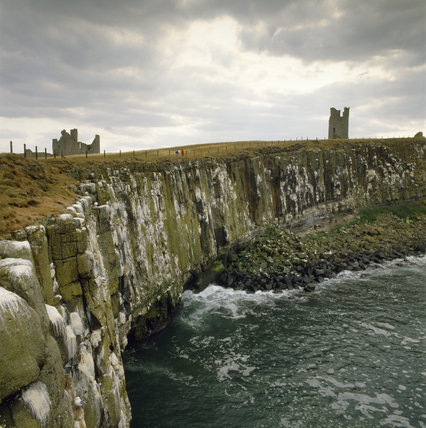 View of Whin Sill Cliff at Dunstanburgh, Northumberland