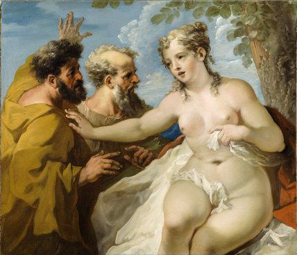 SUSANNAH AND THE ELDERS by Giovanni Pellegrini (1675-1741)