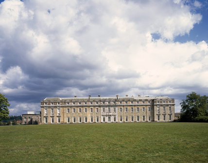The west front of the House against a background of an interesting sky
