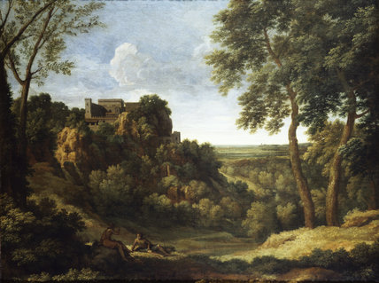 CLASSICAL LANDSCAPE by Gaspard Poussin, at Ickworth, in the Smoking Room