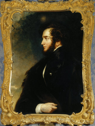 ALFRED, COUNT D'ORSAY (1801-52) by John Wood (1801-70), 1841 at Hughenden Manor in the Drawing Room