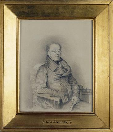 Disraeli's father, ISAAC D'ISRAELI (1766-1848) by Daniel Maclise 1828, in the Disraeli Room