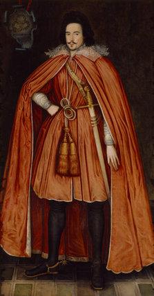 THE FIRST LORD HERBERT of CHIRBURY by Peake in the Oak Drawing Room at Powis Castle