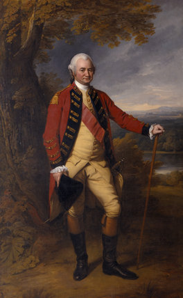 ROBERT CLIVE, FIRST LORD CLIVE (1725-74) by Nathaniel Dance RA (1735-1811) in the Oak Drawing Room at Powis Castle