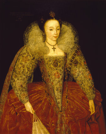 LADY POWIS, Anglo-Flemish {English) 1595 Oil on canvas