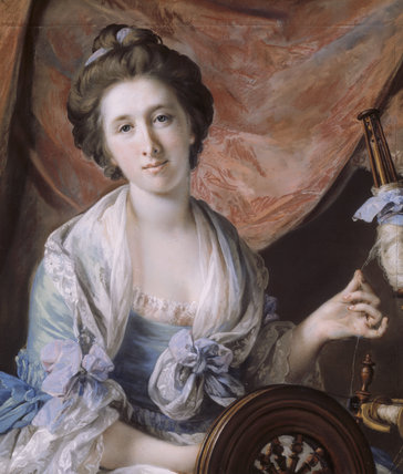 LADY HOARE (FRANCES ACLAND) (1735/36-1800) by Francis Cotes, RA, 1725-1770 at Stourhead