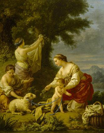 LA MERE COMPLAISANTE by L. J. F. Lagrenee (1725-1805) at Stourhead.