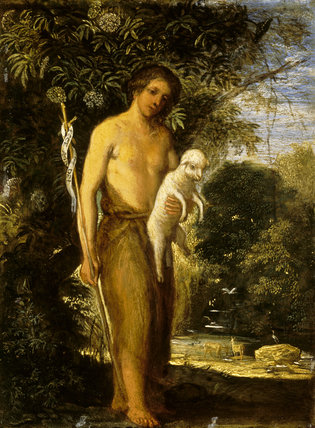 ST JOHN THE BAPTIST by Adam Elsheimer (c1578-1610) from Petworth House