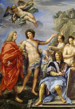 SELF PORTRAIT WITH THE MARCHESE PALLAVICINI (Il Tempo di Virtu) by Carlo Maratta (1625-1713) at Stourhead
