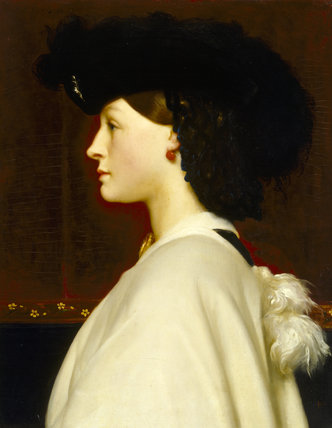 AUGUSTA HOARE, MRS ANDERSTEIN by Frederic Leighton (later Lord Leighton Stretton), 1830-96, at Stourhead