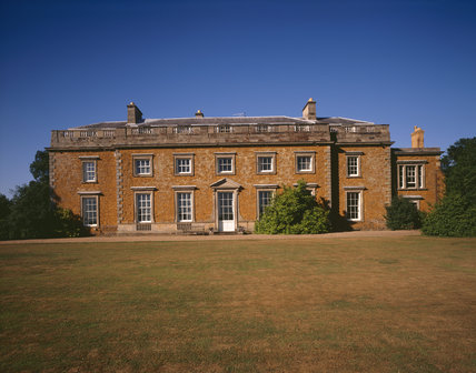 The South Front of Farnborough Hall, which was remodelled in a Palladian style for William Holbech by the architect Sanderson Miller