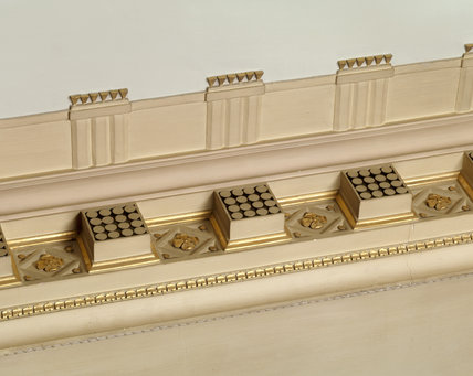 A detail of a scagliola pilaster in the Staircase Hall