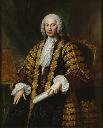 PORTRAIT OF H.BILSON LEGGE painted by William Hoare of Bath